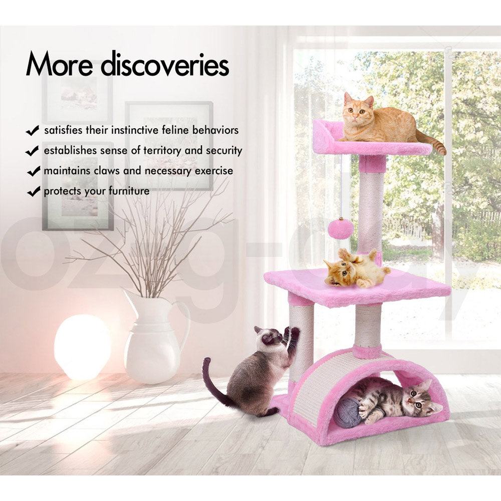 BEASTIE-Cat-Tree-Scratching-Post-Scratcher-Tower-Condo-House-Furniture-Bed-Stand thumbnail 27